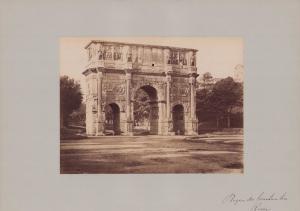 Fotografie Fotograf unbekannt, Ansicht Rom, Konstantinsbogen - Triumphbogen, Grossformat 42 x 31cm