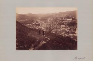 Fotografie Fotograf unbekannt, Ansicht Budapest, Panorama der Stadt, Grossformat 42 x 31cm
