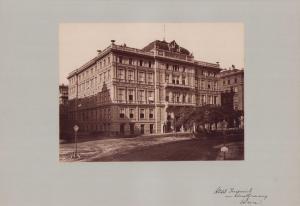 Fotografie Fotograf unbekannt, Ansicht Wien, Hotel Imperial am Kärtnerring, Grossformat 42 x 31cm