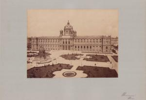 Fotografie Fotograf unbekannt, Ansicht Wien, Museum, Denkmal & gepflegte Grünanlage, Grossformat 42 x 31cm