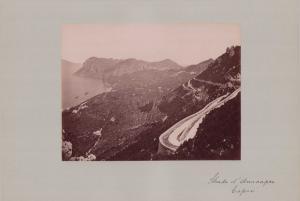 Fotografie Fotograf unbekannt, Ansicht Capri, Strada d' Anacapri, Grossformat 42 x 31cm