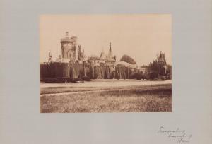 Fotografie Fotograf unbekannt, Ansicht Laxenburg, Franzensburg, Wasserburg, Grossformat 42 x 31cm
