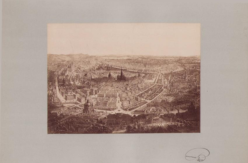 Fotografie Fotograf unbekannt, Ansicht Wien, Panorama der Stadt, Grossformat 42 x 31cm 0