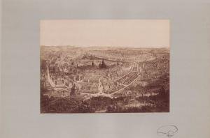 Fotografie Fotograf unbekannt, Ansicht Wien, Panorama der Stadt, Grossformat 42 x 31cm
