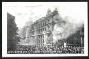 AK Wien, Brand des Justizpalastes am 15. u. 16. Juli 1927
