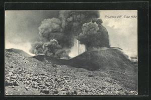 AK Vulkanausbruch Ätna, Eruzione dell`Etna 1892
