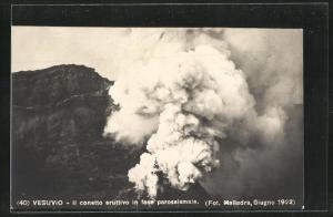 AK Vesuvio, Il conetto eruttivo in fase parossismaie