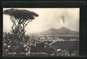 AK Vesuvio, Il Vesuvio col Panorama di Napoli