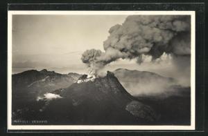 AK Napoli, Vulkanausbruch des Vesuv