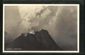AK Napoli, Vesuvio-Vulkanausbruch