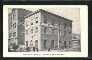 AK San Francisco, First Brick Building Completed After the Fire, Erdbeben