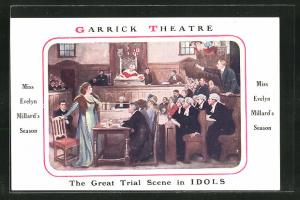 AK Garrick Theatre, The Great Trial Scene in IDOLS, Miss Evelyn Millard`s Season