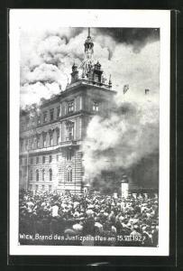 AK Wien, Brand des Justizpalastes am 15.7.1927