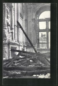 AK Wien, Schreckenstage am 15. und 16. Juli 1927, Der berühmte Marmorsaal im Justizpalast nach dem Zertörungswerk