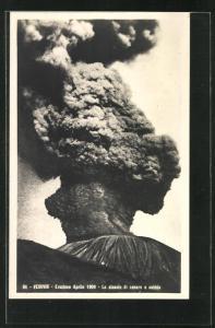AK Vesuvio, Eruzione Aprile 1906, Lo slancio di cenere e sabbia, Vulkan