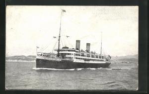 AK Passagierschiff Principessa Mafalda in Küstennähe