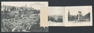 Leporello-AK Luxembourg, Ville haute et ville basse du Grund, diverse Motive