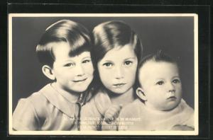 AK Prince Baudouin de Brabant, La Princesse Josephine-Charlotte, Le Prince Albert de Liege, Prinzenkinder von Belgien