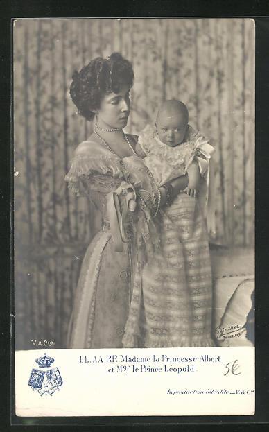 AK Madame la Princesse Albert et Mr. le Prince Leopold 0