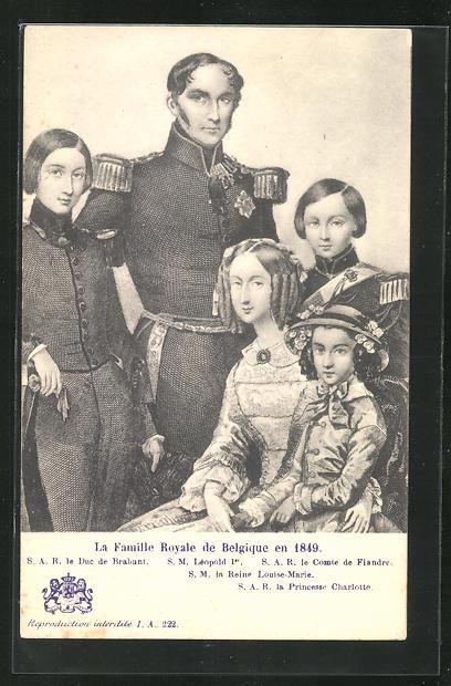 Künstler-AK La Famille Royale de Belgique 189 0