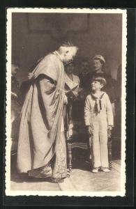 AK Le Cardinal Van Roey et le Prince Baudoin