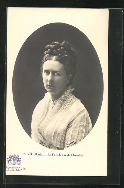 AK Madame la Comtesse de Flandre als hübsche junge Frau 0