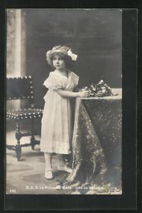 AK La Princesse Marie-Jose de Belgique als bezauberndes kleines Mädchen