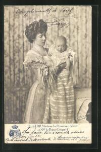 AK Madame la Princesse Albert et le Prince Leopold