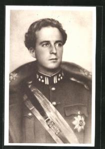AK Leopold III, Roi des Belges, König von Belgien in Uniform mit Schärpe