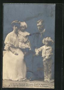 AK LL. AA. RR. Prince et Princesse Albert de Belgique et LL. AA. RR. Princess Leopold et Charles de Belgique