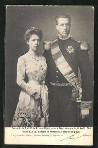 AK S. A. R. le Prince Albert, pormu General-major 1904 et de S. A. R. Madame la Princesse Albert de Belgique