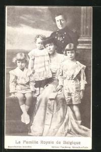 AK La Famille Royale de Belgique