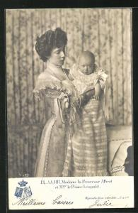 AK LL. AA. RR. Madame la Princesse Albert et Mgr. le Prince Leopold von Belgien
