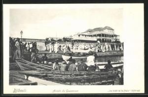 AK Djibouti, Arrivée du Gouverneur, Ankunft des Gouverneurs am Palast
