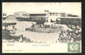 AK Djibouti, Fontaine à la place Ménélik, Brunnen