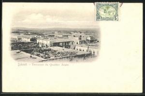 AK Djibouti, Terrasses du Quartier Arabe, Panorama