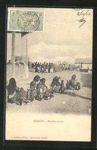AK Djibouti, Vendeuse de lait, Milchverkäuferinnen