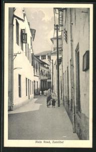 AK Zanzibar, Main Road, Blick in die Strasse