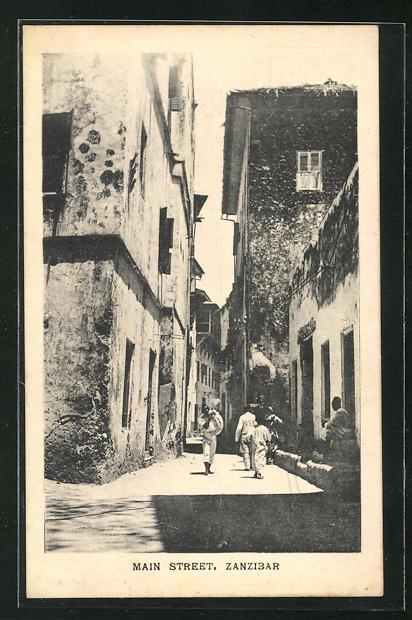 AK Zanzibar, Main Street, Partie aus der Hauptstrasse 0
