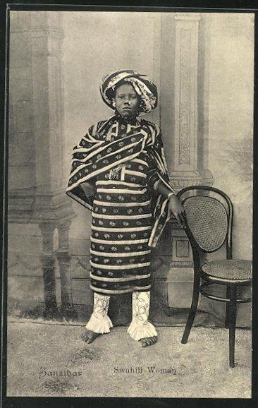 AK Zanzibar, Swahili Woman, Dame in traditioneller Garderobe 0