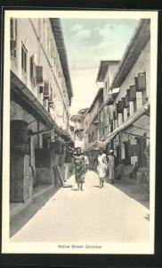 AK Zanzibar, Native Street, Viertel der Einheimischen