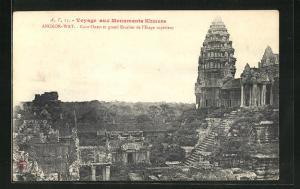 AK Angkor-Wat, Cour Ouest et grand Escalier de l`Etage superieur