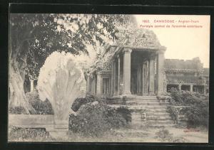 AK Angkor-Thom, Peristyle central de l`enceinte exterieure