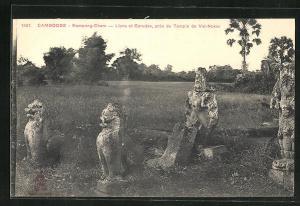 AK Kompong-Cham, Lions et Garudas, pres du Temple de Vat-Nokor
