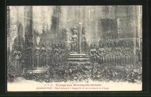 AK Angkor-Wat, Motif decoratif a l`Angel N. -O. de la Galerie du 2e Etage