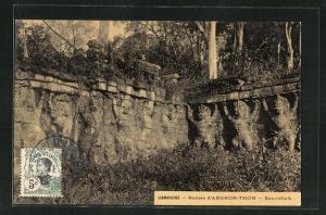 AK Angkor, Ruines d`Angkor-Thom, Bas-reliefs