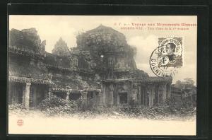 AK Angkor-Wat, Tour Ouest de la 1re enceinte