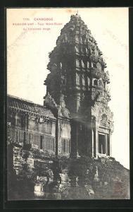 AK Angkor-Vat, Tour Nord-Ouest..., Turmbau