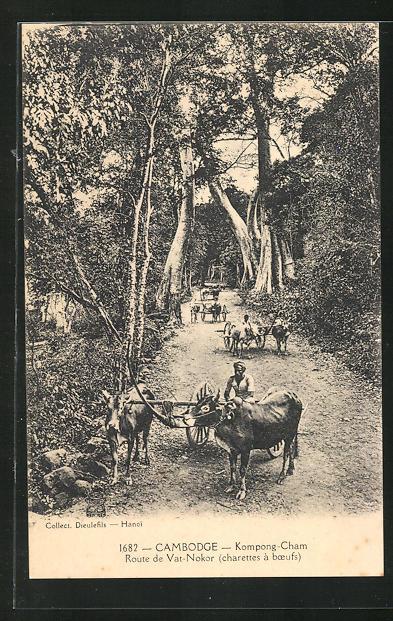 AK Kompong-Cham, Route de Vat-Nokor, Rindergespanne 0