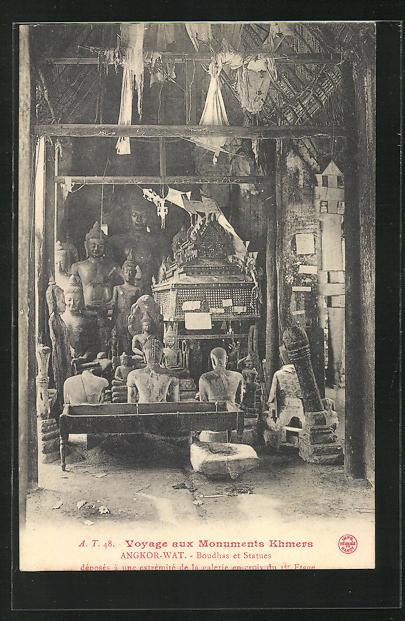 AK Angkor-Wat, Boudhas et Statues, Buddhafiguren 0